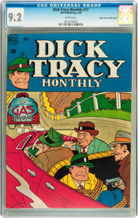 Dick Tracy Monthly #17 Mile High pedigree (Dell, 1949) CGC NM- 9.2 White pages