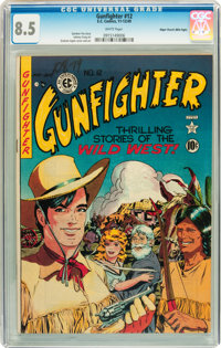 Gunfighter #12 Mile High pedigree (EC, 1949) CGC VF+ 8.5 White pages