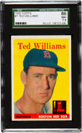 Baseball Cards:Singles (1950-1959), 1958 Topps Ted Williams #1 SGC 86 NM+ 7.5....