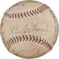 Autographs:Baseballs, 1929 New York Yankees & Philadelphia Athletics Signed Baseball....