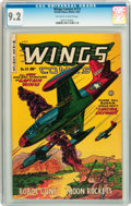 Golden Age (1938-1955):War, Wings Comics #113 (Fiction House, 1951) CGC NM- 9.2 Off-white towhite pages....