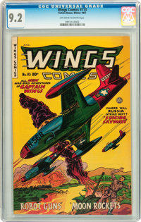 Wings Comics #113 (Fiction House, 1951) CGC NM- 9.2 Off-white to white pages