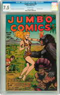 Golden Age (1938-1955):Adventure, Jumbo Comics #95 (Fiction House, 1947) CGC VF- 7.5 Off-white pages....