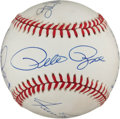 Autographs:Baseballs, 1990's 3,000 Hit Club Baseball Signed by Eight....