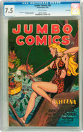 Golden Age (1938-1955):Adventure, Jumbo Comics #90 Lost Valley pedigree (Fiction House, 1946) CGC VF- 7.5 Off-white pages....