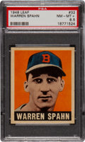 Baseball Cards:Singles (1940-1949), 1948 Leaf Warren Spahn #32 PSA NM-MT+ 8.5....