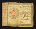 Colonial Notes:Continental Congress Issues, Continental Currency January 14, 1779 $5 Fine.. ...