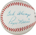 Autographs:Baseballs, Late 1960's Roger Maris Single Signed Baseball, PSA Mint 9....