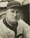Autographs:Photos, 1933-35 Walter Johnson Signed Photograph....