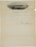 Baseball Collectibles:Others, 1879 Cincinnati Star B.B.C. Application to Join National League....