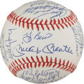 Autographs:Baseballs, 1961 New York Yankees Reunion Team Signed Baseball....