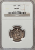 Twenty Cent Pieces, 1875-S 20C MS64 NGC....