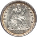 Seated Half Dimes: , 1842 H10C MS64 PCGS. CAC. PCGS Population (39/12). NGC Census:(49/26). Mintage: 815,000. Numismedia Wsl. Price for problem...