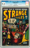 Golden Age (1938-1955):Horror, Strange Tales #16 (Atlas, 1953) CGC NM- 9.2 Off-white pages....