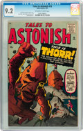 Silver Age (1956-1969):Science Fiction, Tales to Astonish #16 (Marvel, 1961) CGC NM- 9.2 Off-white to whitepages....