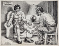 Original Comic Art:Illustrations, Robert Crumb Foot Massage Illustration Original Art (1986)....