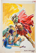 Original Comic Art:Covers, Edmondo Lopez Joyas de la Mitologia #332 (Jewels ofMythology) Gladiator Sword Fight Painted Cover Ori...