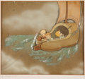 Animation Art:Production Cel, Wynken, Blynken & Nod Production Cel Animation Art withCourvoisier Background (Disney, 1938).... (Total: 2 Items)