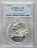 Modern Issues, 1999-P $1 Yellowstone Silver Dollar MS70 PCGS. PCGS Population(239). NGC Census: (431). Numismedia Wsl. Price for problem...