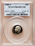 Proof Roosevelt Dimes: , 1988-S 10C PR69 Deep Cameo PCGS. PCGS Population (2072/107). NGCCensus: (253/59). Numismedia Wsl. Price for problem free ...