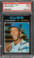 Baseball Cards:Singles (1970-Now), 1971 O-Pee-Chee Ernie Banks #525 PSA Mint 9 - Pop One with None Higher! ...