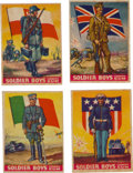 "Non-Sport Cards:Sets, 1934 R142 Goudey ""Soldier Boys"" Complete Set (24). ..."