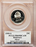 Proof Statehood Quarters: , 1999-S 25C Delaware Silver PR69 Deep Cameo PCGS. PCGS Population(5248/67). NGC Census: (8326/350). Numismedia Wsl. Price ...
