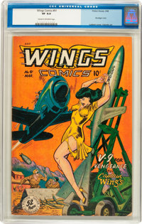 Wings Comics #91 (Fiction House, 1948) CGC VF 8.0 Cream to off-white pages