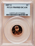 Proof Lincoln Cents, 2007-S 1C PR69 Red Deep Cameo PCGS. PCGS Population (3028/159). NGCCensus: (3643/442). Numismedia Wsl. Price for problem ...