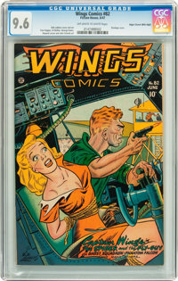 Wings Comics #82 Mile High pedigree (Fiction House, 1947) CGC NM+ 9.6 Off-white to white pages