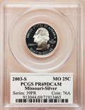 Proof Statehood Quarters: , 2003-S 25C Missouri Silver PR69 Deep Cameo PCGS. PCGS Population(5529/310). Numismedia Wsl. Price for ...