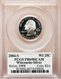 Proof Statehood Quarters, 2004-S 25C Wisconsin Silver PR69 Deep Cameo PCGS. PCGS Population(7819/439). NGC Census: (0/0). Numismedia Wsl. Price for...