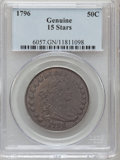 Early Half Dollars, 1796 50C 15 Stars Genuine PCGS. Mintage: 3,918. (#6057)...