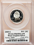 Proof Statehood Quarters, 2005-S 25C West Virginia Silver PR69 Deep Cameo PCGS. PCGSPopulation (5290/377). NGC Census: (0/0). Numismedia Wsl. Price...