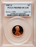 Proof Lincoln Cents, 1987-S 1C PR69 Red Deep Cameo PCGS. PCGS Population (3134/76). NGCCensus: (579/21). Numismedia Wsl. Price for problem fre...