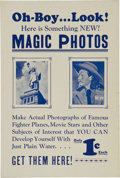 "Baseball Cards:Sets, Very Rare 1948 Topps ""Magic Photos"" Counter Display Card. ..."