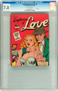 Confessions of Love #1 (Artful, 1950) CGC FN/VF 7.0 Off-white pages
