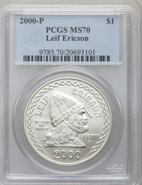 2000-P $1 Leif Ericson Silver Dollar MS70 PCGS. PCGS Population (141). NGC Census: (443). Numismedia Wsl. Price for prob...