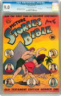 Golden Age (1938-1955):Religious, Picture Stories from the Bible #1 Old Testament Edition - GainesFile pedigree (DC, 1942) CGC VF/NM 9.0 Off-white to white pag...