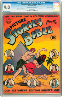 Picture Stories from the Bible #1 Old Testament Edition - Gaines File pedigree (DC, 1942) CGC VF/NM 9.0 Off-white to whi...