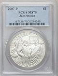 Modern Issues, 2007-P $1 Jamestown MS70 PCGS. PCGS Population (968). NGC Census: (4708). Numismedia Wsl. Price for problem free NGC/PCGS ...