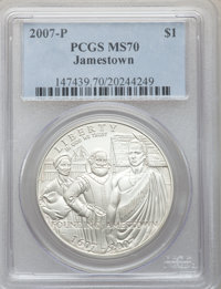 2007-P $1 Jamestown MS70 PCGS. PCGS Population (968). NGC Census: (4708). Numismedia Wsl. Price for problem free NGC/PCG...