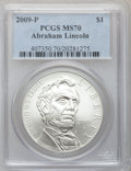 Modern Issues, 2009-P $1 Lincoln MS70 PCGS. PCGS Population (3074). NGC Census:(8052). Numismedia Wsl. Price for problem free NGC/PCGS c...
