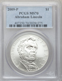 2009-P $1 Lincoln MS70 PCGS. PCGS Population (3036). NGC Census: (8035). Numismedia Wsl. Price for problem free NGC/PCGS...
