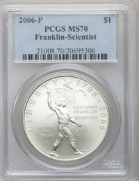 2006-P $1 Scientist MS70 PCGS. PCGS Population (392). NGC Census: (5347). Numismedia Wsl. Price for problem free NGC/PCG...