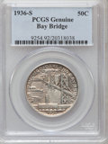 1936-S 50C Bay Bridge--Cleaning--Genuine PCGS. This PCGS number ending in 92 suggests Cleaning as the reason, or perhaps...