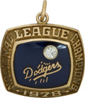 Baseball Collectibles:Others, 1978 Los Angeles Dodgers National League Championship Pendant....