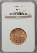 Indian Eagles: , 1912-S $10 XF45 NGC. NGC Census: (27/822). PCGS Population(27/686). Mintage: 300,000. Numismedia Wsl. Price for problem fr...
