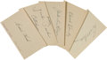 Autographs:Others, 1930's-40's Minor Baseball Stars Signed Index Cards/Cuts Lot of 100+....