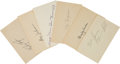 Autographs:Index Cards, 1930's-50's Major League Players Signed Index Cards Lot of 100+....